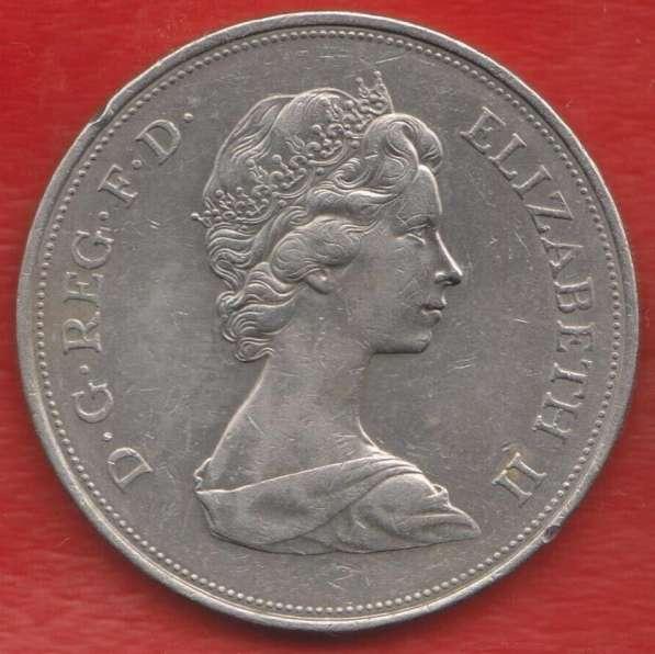 Великобритания Англия 25 пенсов 1972 25 лет свадьба Елизавет в Орле