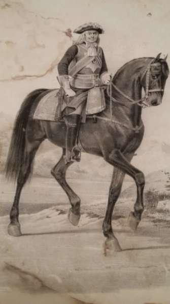 Литограф Поль Пети 19 век кавалергардов
