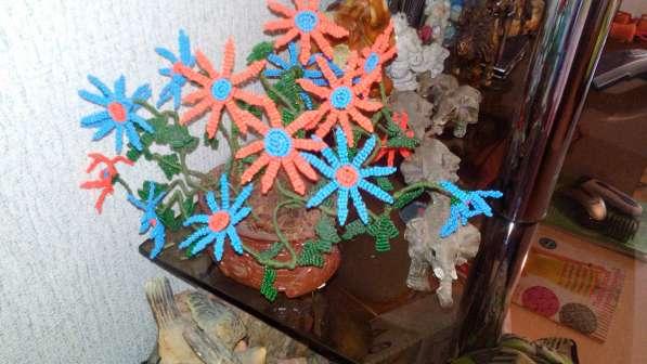 Продам цветы и деревья из бисера