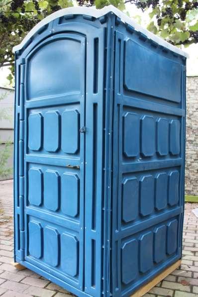 Туалетные кабины мобильные пластмассовые для строительных пл