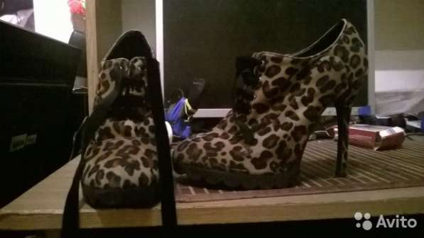 Ботильоны леопардовые