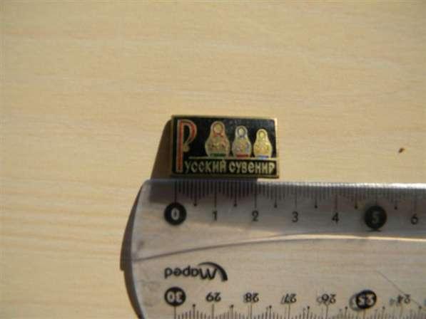 Значок. Русский сувенир (матрешки) латунь, горяч. эмаль