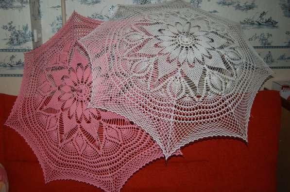 Зонты ручной работы связанные крючком
