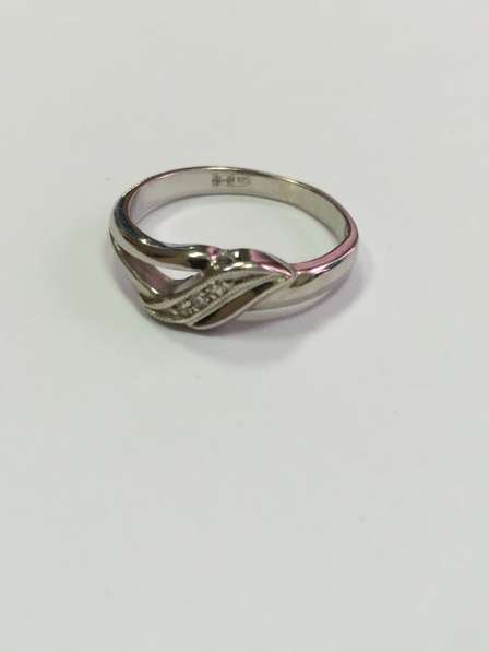 Кольцо серебряное с бриллиантами. Новое