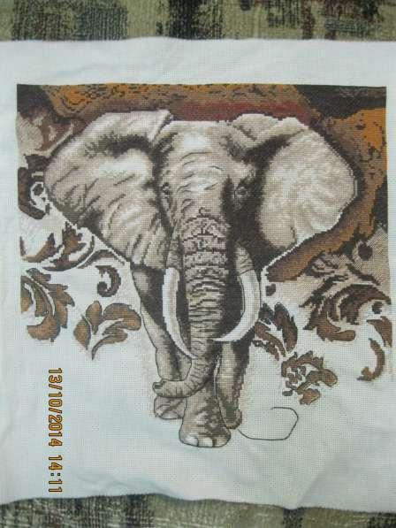 """Вышитая картина """" Африканский слон"""""""