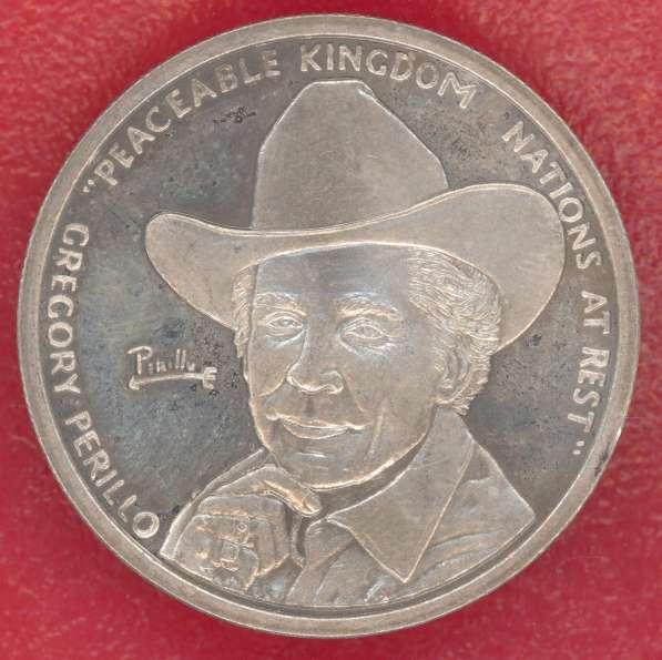 США Жетон монетовидный Григорий Перилло серебро