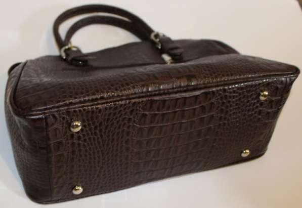 Коричневая кожаная сумка в Москве фото 4
