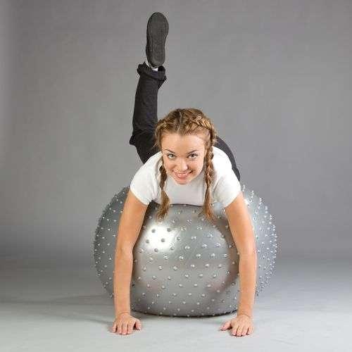 Мяч для фитнеса массажный фитбол-75 плюс новый