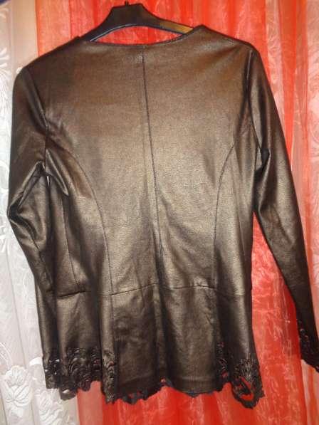 Пиджак под кожу р 44-46 в Гатчине фото 4