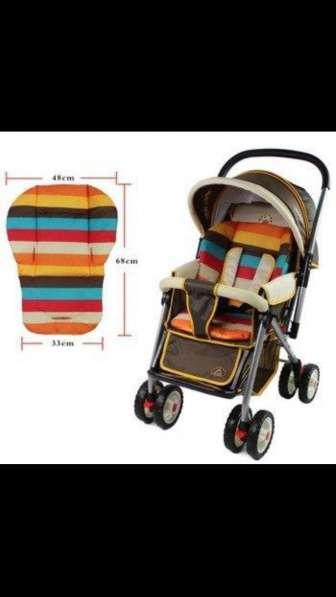 Чехол Матрас подкладка для коляски, стульчика для кормления