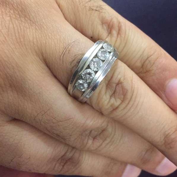 Кольцо 5 камней