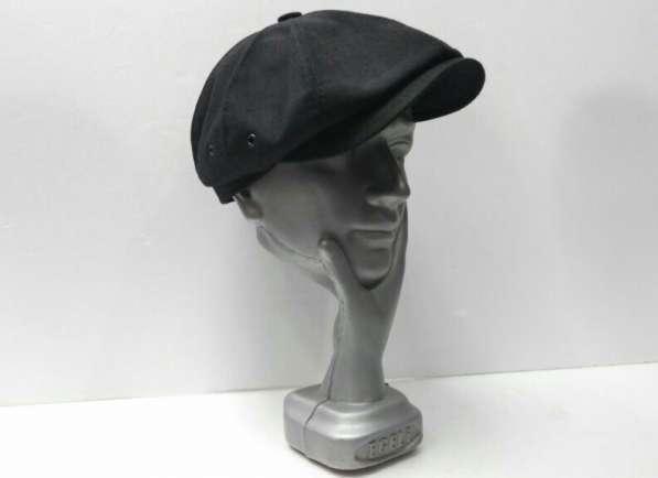 Гаврош восьмиклинка кепка мужская (черная)