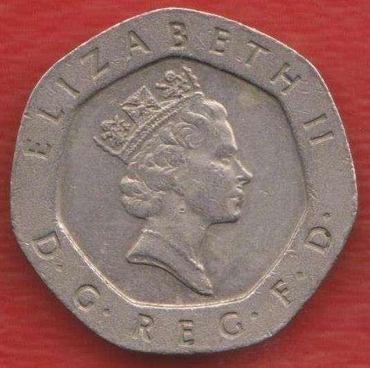 Великобритания Англия 20 пенни 1996 г. Елизавета II в Орле