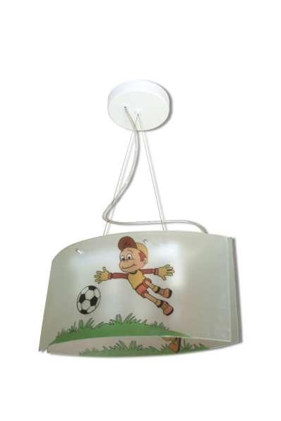 Детская люстра с изображением футболиста