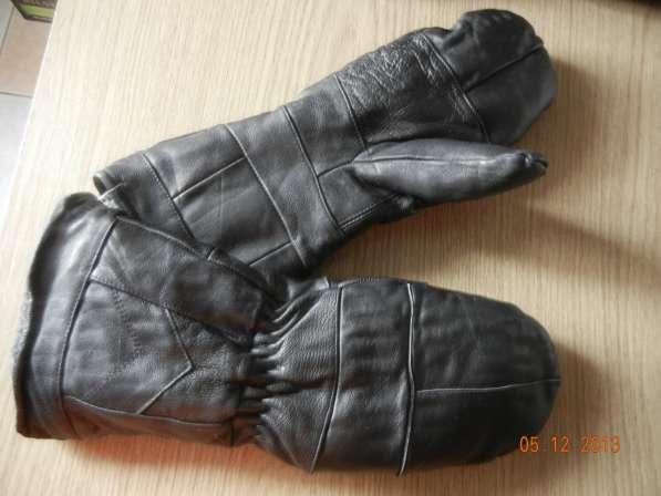 Кожаные варежки