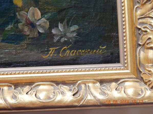 Холст масло 47 Х 36, цветочный натюрморт, Спасский Павел