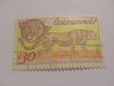 Марка h30 Сафари Гепард 1976 год Чехословаки