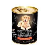 PROPS Консервы мясные для собак с говядиной, 338 гр, в Санкт-Петербурге