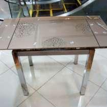 Стеклянный раздвижной стол Анжелика Китай А1726, в Москве