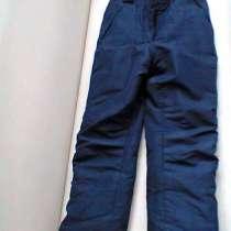 Зимние теплые штаны на подтяжках 128 размер, в Москве