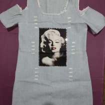 Х/Б платье под джинс с Мэрилин Монро, в г.Ташкент