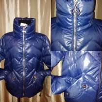 Куртка новая Стильная весенняя моделька цвет синий, воротник, в Одинцово