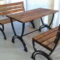 Комплект садовой мебели: столик и две скамейки, в Санкт-Петербурге