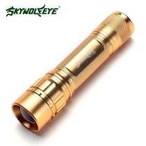 Новый светодиодный фонарь фирмы Skywolfeye золотой, в Москве