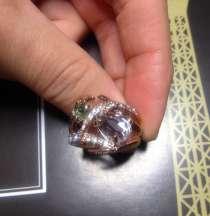 Кольцо с кристаллами Swarovski (ювелир. бижутерия), в Красноярске