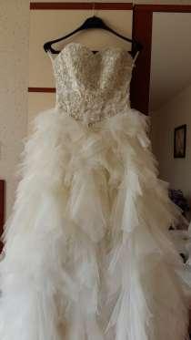 Продам НОВОЕ свадебное платье. Размер 42-44, в г.Уральск