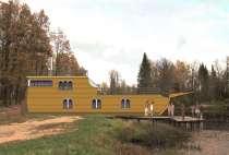 Проект экзотического здания бани, в Бердске
