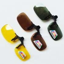 Солнцезащитные накладки на очки с поляризацией для очков с диоптриями, в Уфе