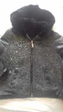 Куртка утепленная шерсть с меховым капюшоном 48/50/полн.50р, в Москве