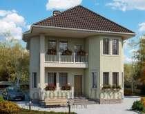 Строительство дома из газобетона 9.2x11.5 155.5 кв. м, в Москве