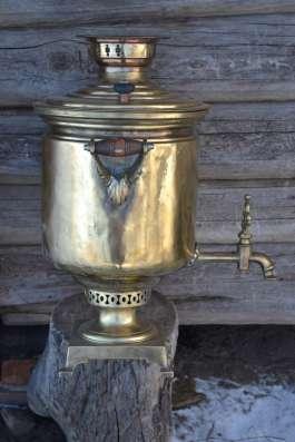Самовар царский золотистый Медаль ЗОЛОТАЯ рабочий не течет н