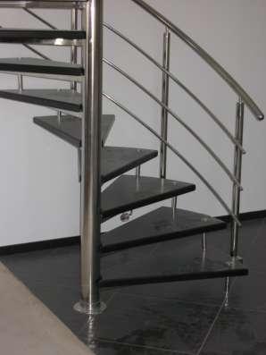Ограждения и лестницы из нержавеющей стали в Москве Фото 1