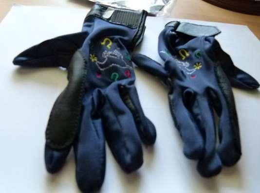 HKM. Детские перчатки для верховой езды.Новые.6-7 лет.Герман