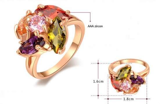 Кольцо р.16.5 (покрытие - розовое золото) в Перми Фото 2