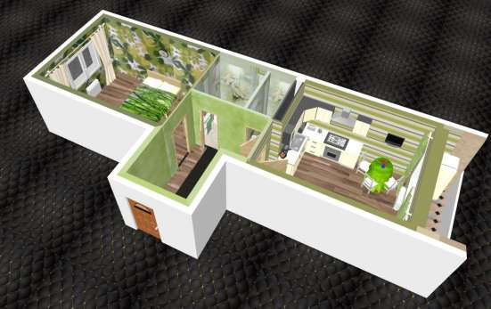 Квартира-бабочка 39м. кв. Ипотека, рассрочка, мат. кап