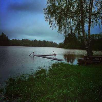Участок на берегу озера в Мамошино