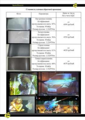 Проекторы Плёнка Обратной Проекции Полноценный экран в Владивостоке Фото 2