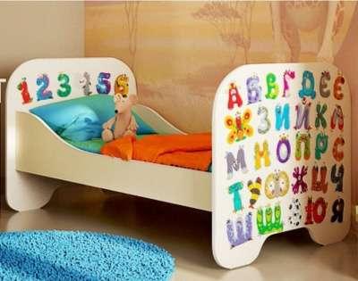 Кровать 160*80 см с наклейками буквы