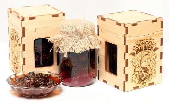 Сувениры из кедра с вареньем из шишек и сибирскими угощением в Новосибирске Фото 1