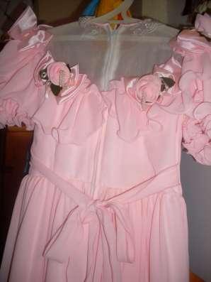 Детское праздничное розовое платье на девочку 6-8 лет в Москве Фото 3