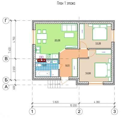 Дом 65 кв. м. в Краснодаре Фото 4