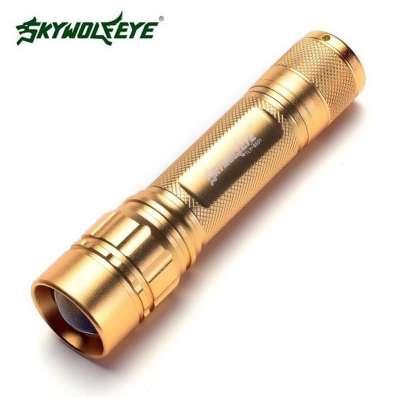Новый светодиодный фонарь фирмы Skywolfeye золотой