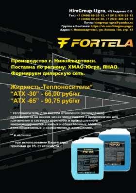 Производство автохимии, теплоносителей Fortela