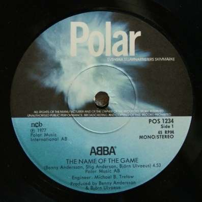 ABBA - The Name Of The Game / I Wonder (Departure)