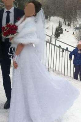 Кружевное свадебное платье + накидка в Москве Фото 5