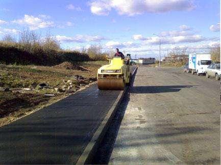 Асфальтирование дорог и дорожные работы